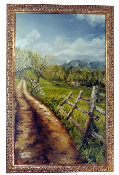 Italian trail- LARGE PAINTING - Giuseppe Costantino