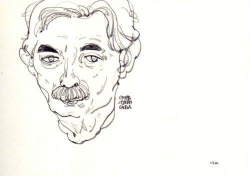 Old man drawing - drawing by mia