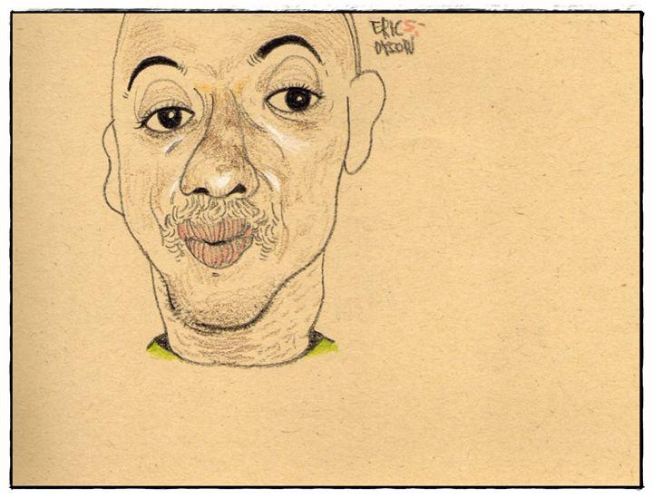 Man drawing - drawing by mia