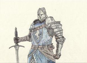 Knight Pen Drawing