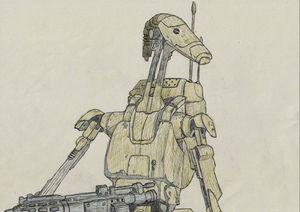Star Wars Battle Droid Pen Drawing