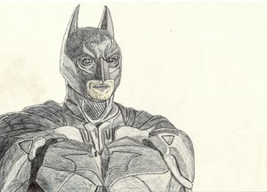 Batman (The Dark Knight) Pen Drawing