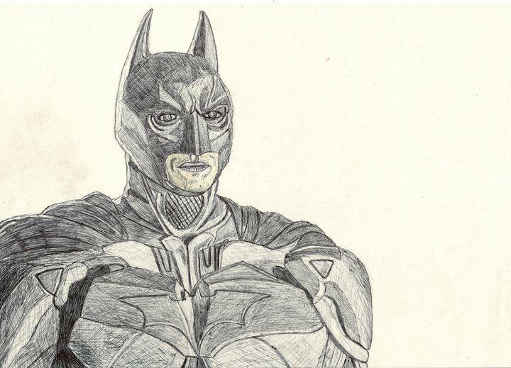 Batman (The Dark Knight) Pen Drawing - RL Illustrations