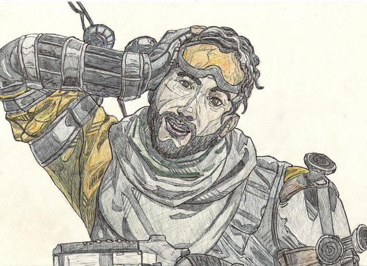 Mirage Apex Legends Pen Drawing - RL Illustrations