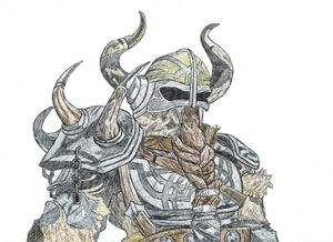 Viking Warrior Pen Drawing