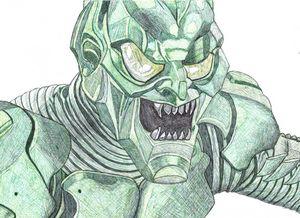 Green Goblin Pen Drawing