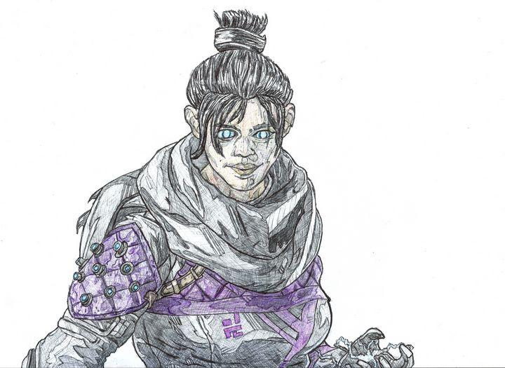 Wraith Apex Legends Pen Drawing - RL Illustrations
