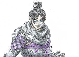Wraith Apex Legends Pen Drawing