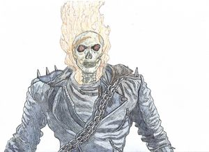 Ghost Rider Pen Drawing