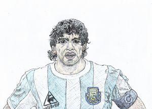Maradona Pen Drawing