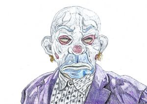 Joker Goon Pen Drawing