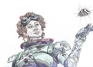 Apex Legends Horizon Pen Drawing
