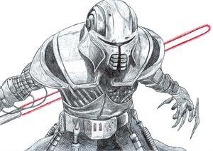 Dark Lord Starkiller Pen Drawing