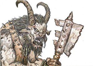 Fantasy Art Monster Pen Drawing