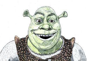 Shrek Pen Drawing