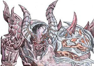 Fantasy Art Warrior Pen Drawing