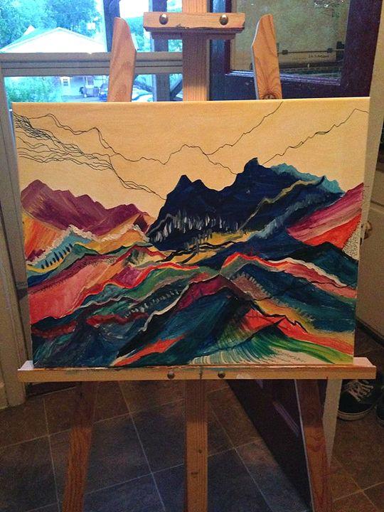 Abstract mountain range - Elisabeth Elder-Gomes