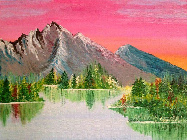 Mountain sunset - Elisabeth Elder-Gomes