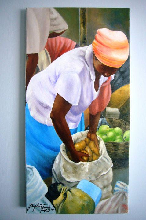 Merchant of potatoes - Jean Baptiste Frantz