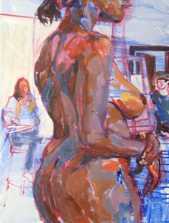 Standing nude from back 2 - Sandy Parsons - Available Artwork