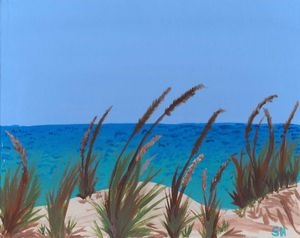 Seaside Sand Dunes Landscape - Free Arts Academy- Art From Our Channel