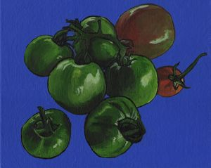 Green Tomatoes On The Vine - Free Arts Academy- Art From Our Channel
