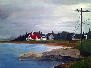 Popham Beach, Maine Coastline