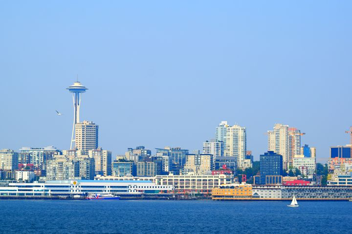 Seattle space needle waterfront - Ngtimages