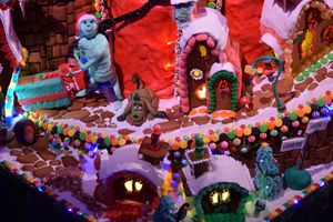 The Grinch gingerbread house