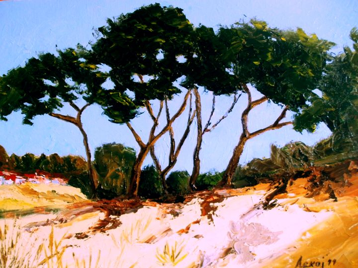 sandy dunes on the Mediterranean - atelje lerok