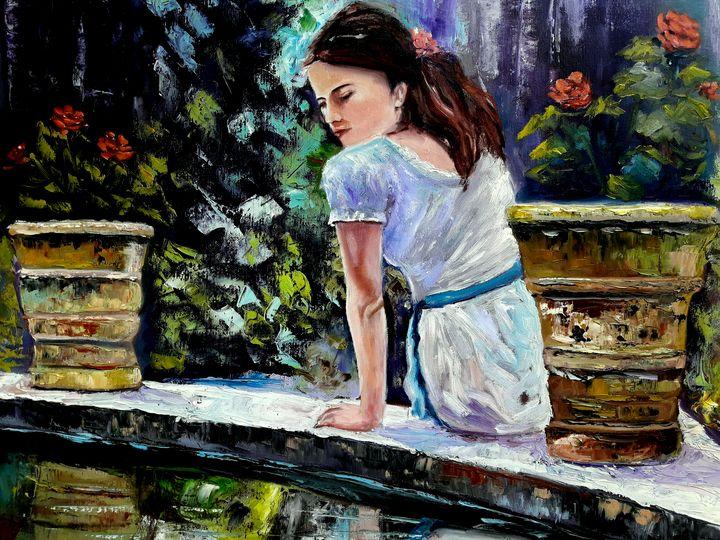 pensive girl - atelje lerok