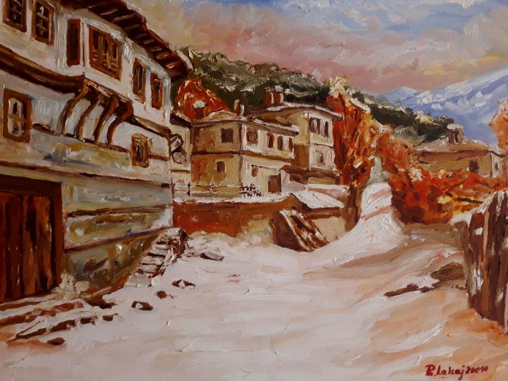 Old village in winter - atelje lerok
