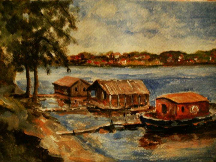 boats on the river 1 - atelje lerok