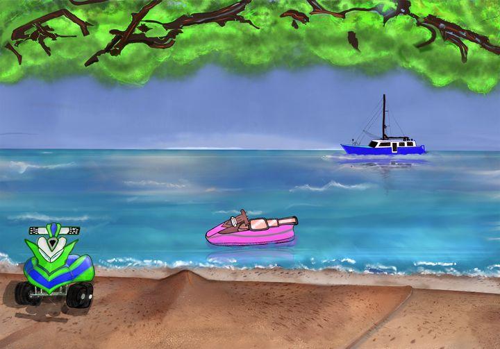 CARIBBEAN BEACH DAY - Maria Porfil