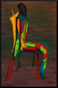 L'arlecchino seduto