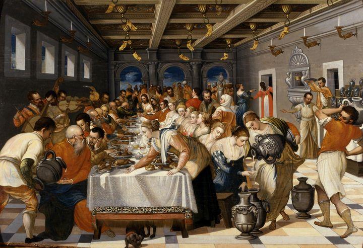 Michele Damaskinos~Le nozze di Cana - Old classic art