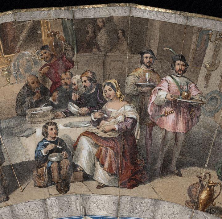 Mid-19th century~Folding fan (detail - Old classic art