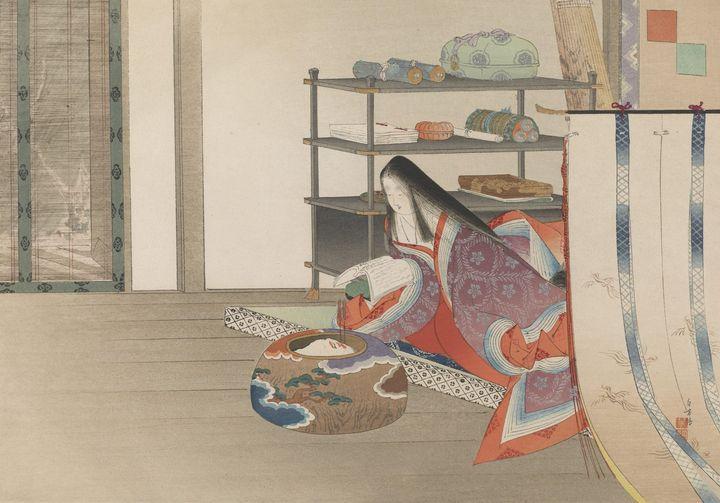 Artist Mizuno Toshikata~Ancient Tale - Old classic art