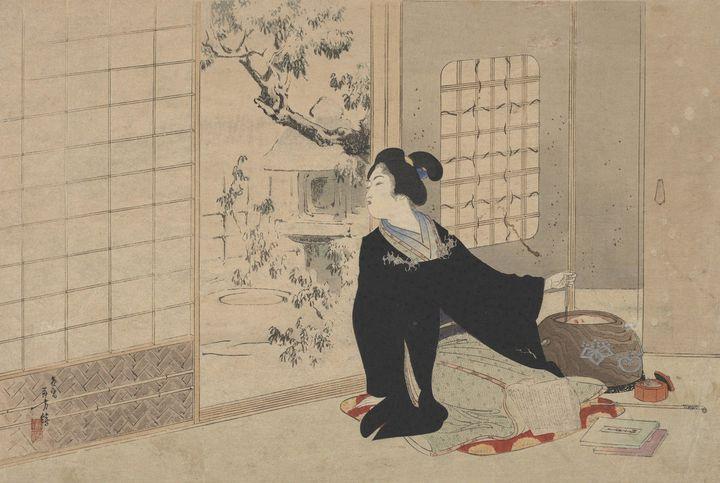 Artist Mizuno Toshikata~Modern Beaut - Old classic art