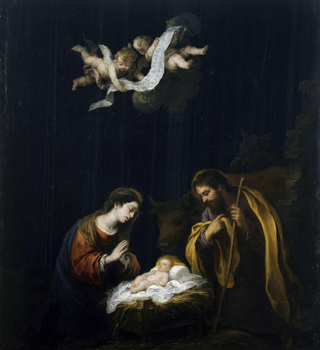 Bartolomé Esteban Murillo~The Nativi - Old classic art