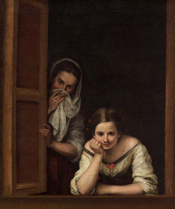 Bartolomé Esteban Murillo~Two Women - Old classic art