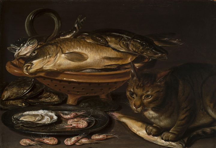Clara Peeters~Still Life of Fish and - Old classic art