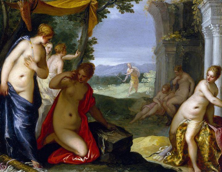 Hans Rottenhammer~Diana and Actaeon - Old classic art