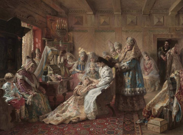 Konstantin Makovsky~The Russian Brid - Old classic art