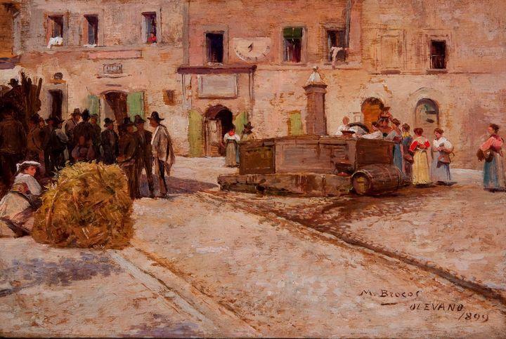 Modesto Brocos~Olevano Romano, Itáli - Old classic art