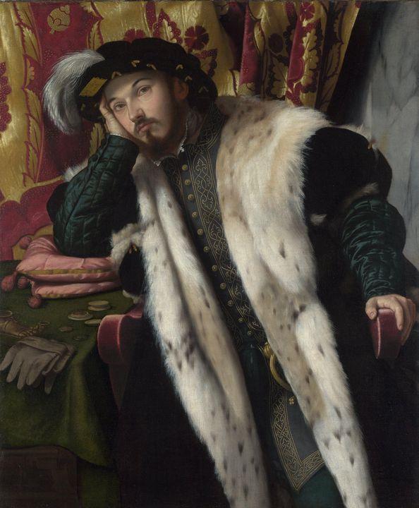 Moretto da Brescia~Portrait of a You - Old classic art