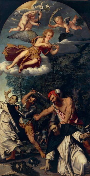 Moretto da Brescia~The Martyrdom of - Old classic art