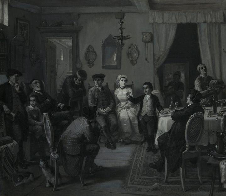 Moritz Daniel Oppenheim~The Bar Mitz - Old classic art