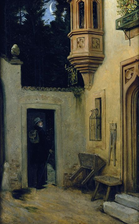 Moritz von Schwind~Farewell at Dawn - Old classic art