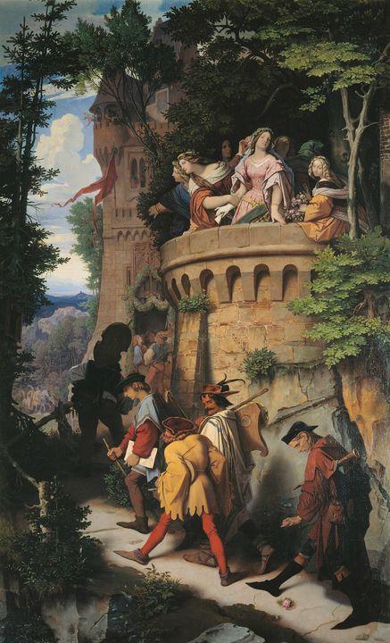 Moritz von Schwind~The Rose, or the - Old classic art